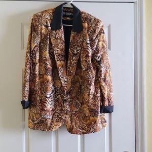 Vintage 80s 80s animal print blazer